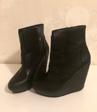 Real leather platform boots size 37