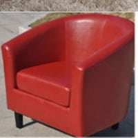red leather sofa chair set of 2 , each is 150$  Longueuil, J4M 1X7