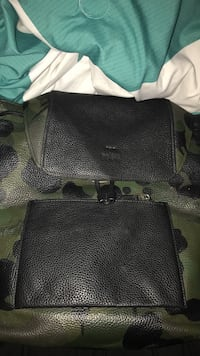 Black and green leather coach bag Montgomery, 36116