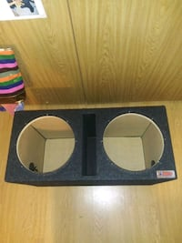 atrend dual 12 inch subwoofer box heavy duty! only used lightly.