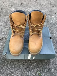 wheat-and-black Timberland nubuck work boots Cincinnati, 45227