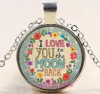 I love you to the moon and back necklace - New