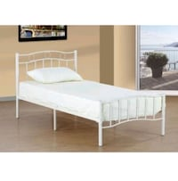 single bed metal frame box spring double pillow to Mississauga, L5G 4L1