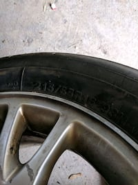 black auto wheel with tire Mississauga, L4W 2X1