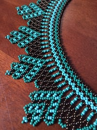 Hand beaded decadent Necklace from Ecuador  Oakville, L6L 5G6