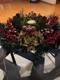red and green flower wreath Mississauga, L4Z 1J5