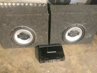 10 inch infinity's & rockford amp Sioux Falls, 57103