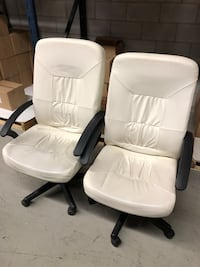 White Office Chairs for $40 Each Oakville