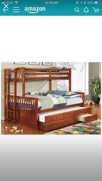 Furniture of America Pammy Twin over Queen Bunk Bed Hamilton, 08620