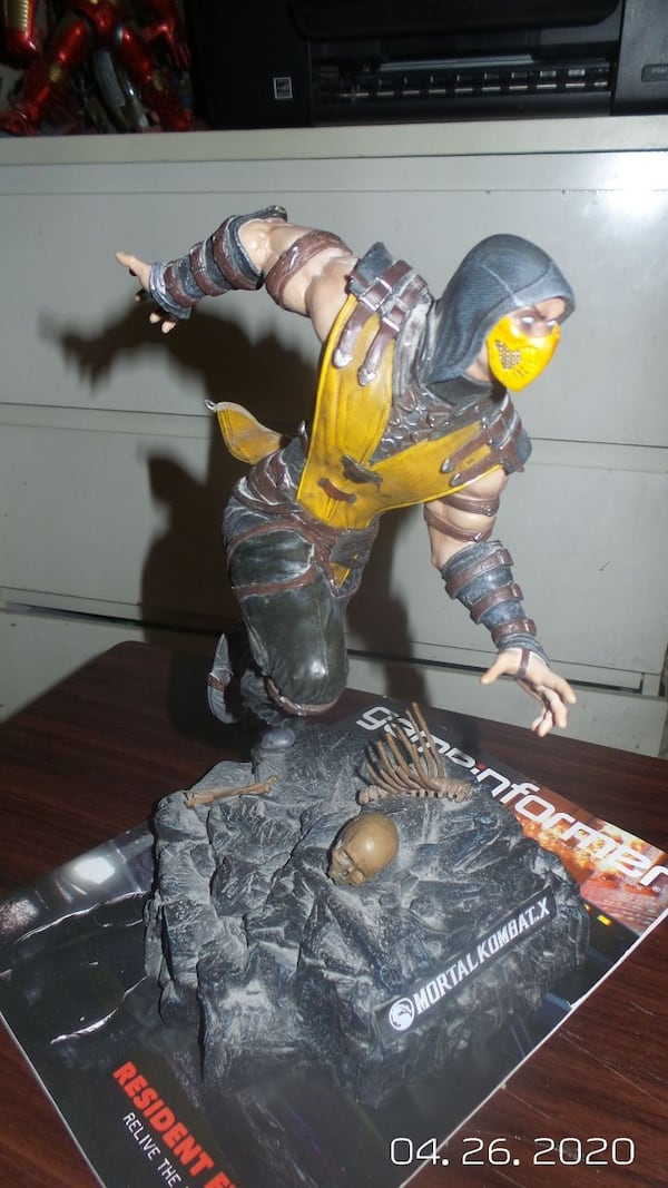 Used Mortal Kombat X Scorpion Statue Plastic For Sale In The