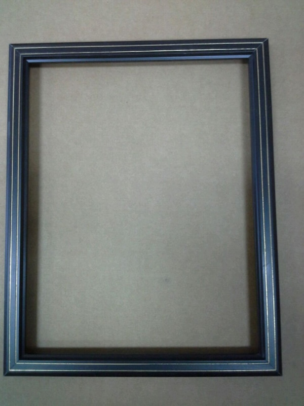 picture frame,  black / gold wood frame