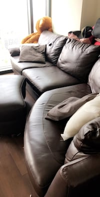 Dark brown leather sofa Mc Lean, 22102