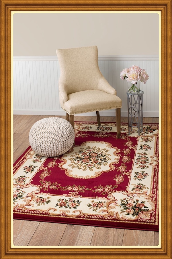Brand new traditional design area rug size 5x8 nice red carpet rugs carpets