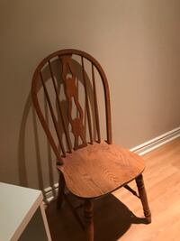 4 Solid Oak Chairs WOODBRIDGE