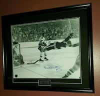 "Bobby Orr Signed ""Dive"" Photo Framed w/COA Caledon, L7E 2X9"