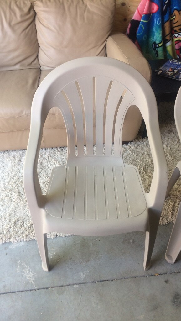 2 Beige Patio Chairs