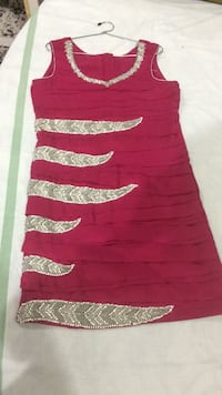 red and white striped sleeveless dress Ajmer, 305004