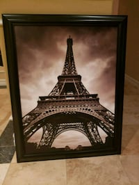 Very large Eiffel Tower framed art Oceanside, 92057
