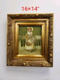 brown wooden framed painting of woman Aurora, L4G 7Y4