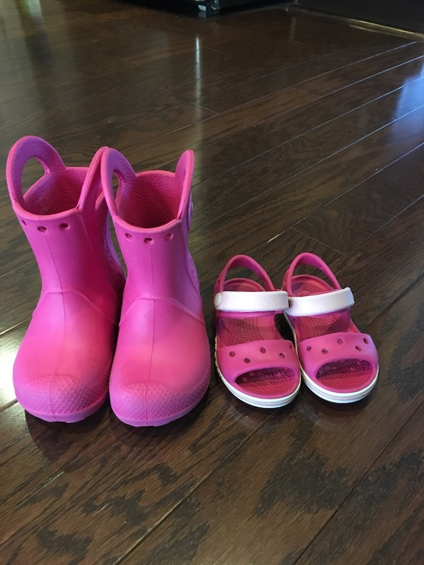 Toddler 6c Crocs sandals and boots