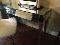 Worlds Away Jacklyn Mirrored 3 drawer desk Los Angeles