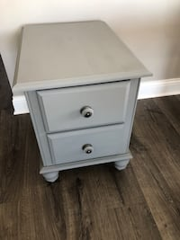 Dark grey night stand, side table or end table