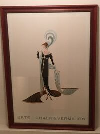 Beautifully-framed Erte artwork.  **PRINT SOLD* but plates still available!
