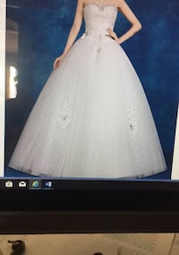 Georgeous sequins with stones ball gown, white