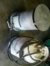gray propane tanks