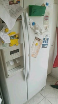 white side-by-side refrigerator Montreal, H3R 3L4