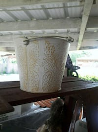 white decorative pail Weslaco, 78596