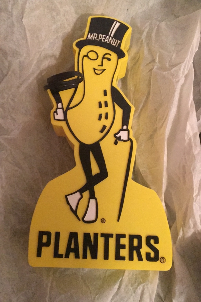 """MR PEANUT Embroidered Iron-On Patch 4/"""""""