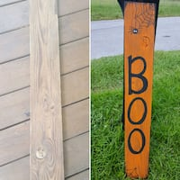 Hand painted halloween front porch sign Auburndale