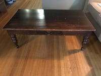 rectangular brown wooden coffee table Vancouver, V6H 1L7
