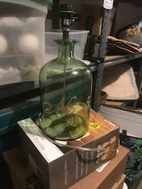 2 No.5 green glass lamps 25 for the pair Bakersfield, 93306