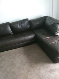leather sectional 2part couch detachable legs Montgomery, 36104