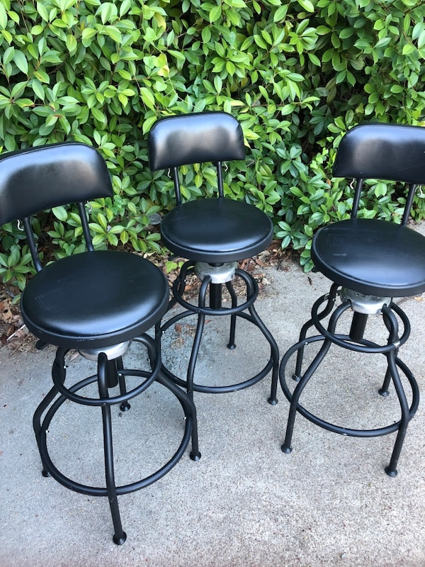 Three Harley Davidson Stools Industrial Style And Perfect For Your