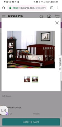 Toddler bed with drawer and mattress Chesapeake, 23325