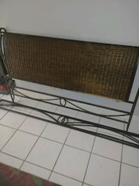 Tommy Bahama wrought iron& wicker queen bed