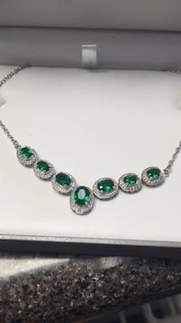silver-colored with green gemstone necklace Prescott Valley, 86314