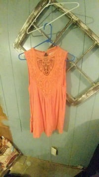 women's orange sleeveless dress Anniston, 36201
