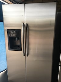 stainless steel side-by-side refrigerator with dispenser Mesa, 85201