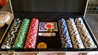 Poker set with extra chips Charleston