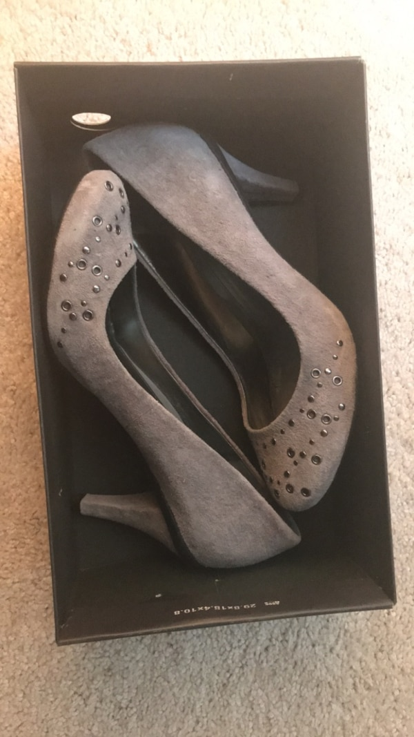 Gray Suede Kenneth Cole Heels