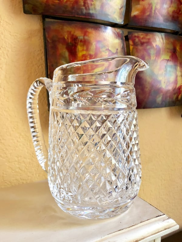 """Vintage """"Glandore"""" Pattern Cut Crystal Martini Pitcher by Waterford a2c61179-41da-4bf6-bde1-62e145cd5ebe"""