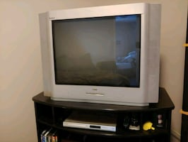 Old TV and DVD player