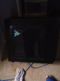 black CRT TV with remote London, N6G 2W8