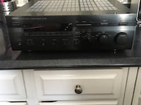 Black yamaha stereo amplifier