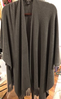 Oversized Gray Soft Sweater Wrap Tucker, 30084