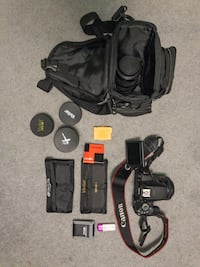 Canon t5i DSLR with lenses and more (huge bundle) Brampton, L6X 4Z3